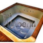 Badestamp i plast firkantet