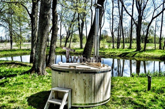 badestamp av tre billig