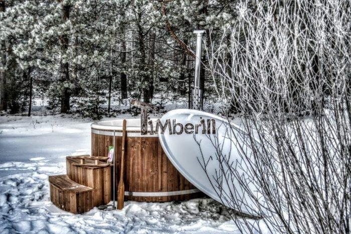 badestamp eller boblebad vinter