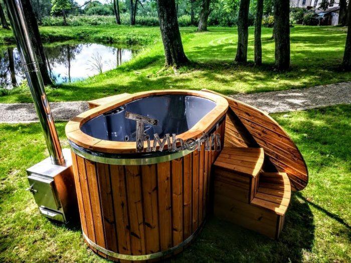 badestamp for 2 med vedfyring japansk badestamp