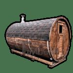 Utendørs badstuer sauna tønne