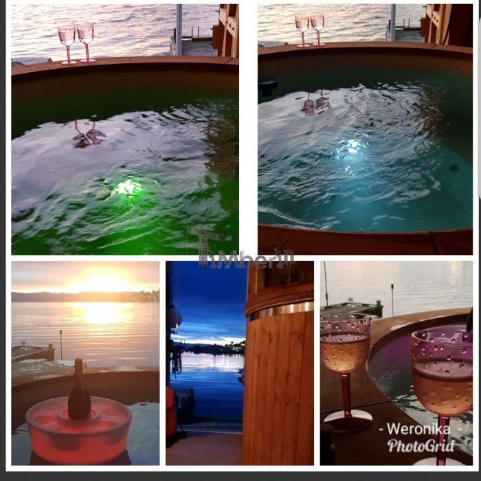 Badestamp i glassfiber med elektrisk oppvarming, Weronika, Husnes, Norge